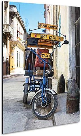 Vertikale decoración pared cuadro Alu bicicleta Taxi Cuba color 40 ...