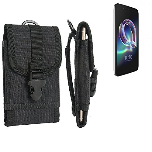 bolsa del cinturón / funda para Alcatel Idol 5, negro | caja del teléfono cubierta protectora bolso - K-S-Trade (TM)