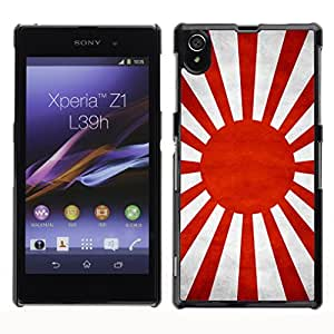 Shell-Star ( National Flag Series-Japanese War ) Snap On Hard Protective Case For SONY Xperia Z1 / L39H / C6902 / C6903 / C6906