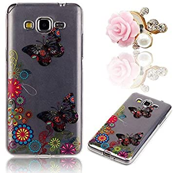 Funda para Samsung Galaxy Gran Prime, Sunroyal® Carcasa para Samsung Galaxy Gran Prime SM-G530FZ / SM-G531F Funda Cubierta Transparente de TPU ...