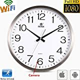 Bellisimor Wi-Fi Wall Clock with Hidden Wireless Spy Camera, Motion Detector, IP Spy Covert Camera, Nanny Camera, Pet Camera, Can See Real-time Video, 1080P FHD