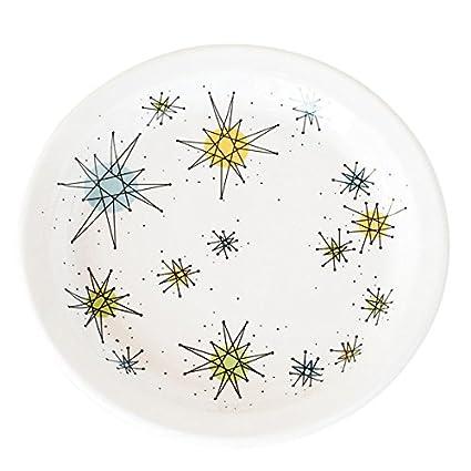 Amazon.com   Atomic Starburst Boomerang Salad Plate: Salad Plates