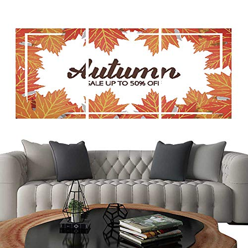 PaintingAutumn Sale Banner with Maple Leaves Frame and Trendy Autumn Brush Lettering Seasonal Fall Sale card1. Bedroom Home Decorations 12