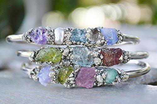 Birthstone Jewelry, Garnet, Amethyst, Aquamarine, Emerald, Herkimer Diamond, Pearl, Ruby, Peridot, Sapphire, Opal, Citrine, Turquoise, Blue Topaz, Custom Bracelet, Gemstone Bracelet - Amethyst Pearl Jewelry