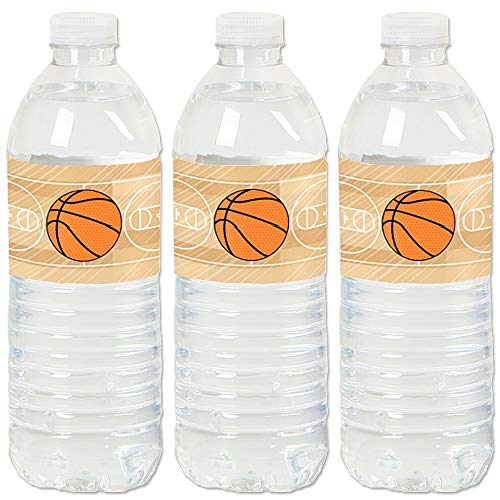 Nothin' But Net - Basketball - Baby Shower or Birthday Party Water Bottle Sticker Labels - Set of 20 (Nets Water Bottle)