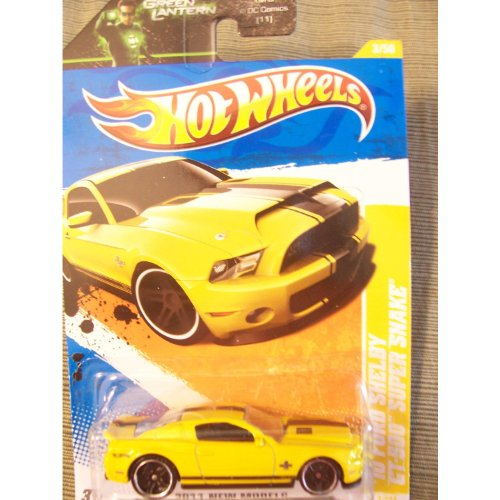 Hot Wheels 2011 New Models 2010 Ford Shelby GT-500 Super Snake on Green Lantern Card (Yellow)