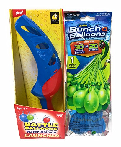 Water Balloon Launcher Quick Fill 30 Balloons In 20 Seconds (balloon color may vary)
