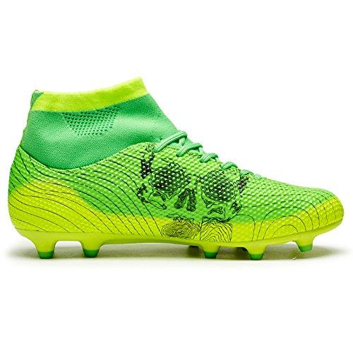 Leoci Atletische Heren Grond Voetbalschoen Schoenverlichting Outdoor Voetbal Kids Schoenplaat (kleine Jongen Grote Jongen) Groen
