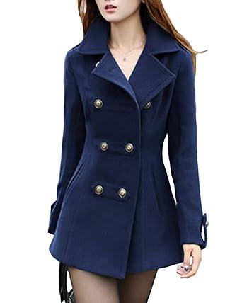 Jacke lang blau