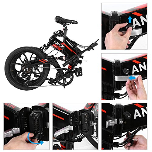 Ancheer 2018 Waterproof Folding Electric Bike With