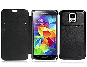 sr 4200mAh External Backup Battery with Flip Case for Samsung Galaxy S5 (Black)