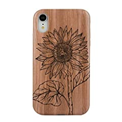 Calling all wood lovers - this phone case is for you!       Our stunning Wood Floral Case combines a wood background with lush forest or sunflowers for a beautiful stylish look.       Pair with your best thrift store patterned shirt an...