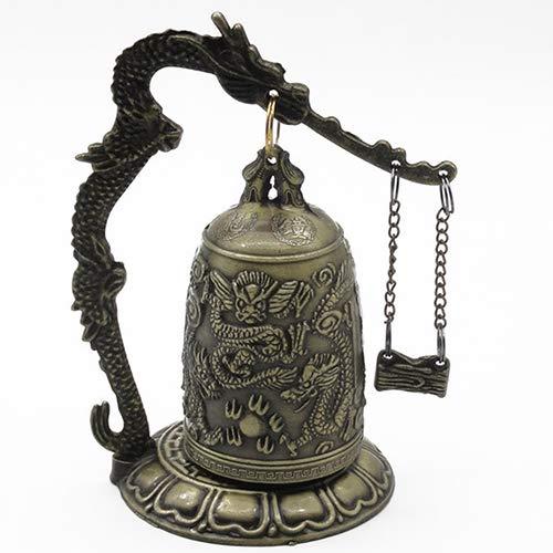 lightclub Lock Dragon Carved Buddhist Good Luck Bell Geomantic for Meditation Altar by lightclub (Image #4)