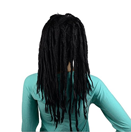 IMOSA Premade Synthetic Cosplay Reggae Dreadlocks Wig (Black) (Best Hair Length For Dreadlocks)
