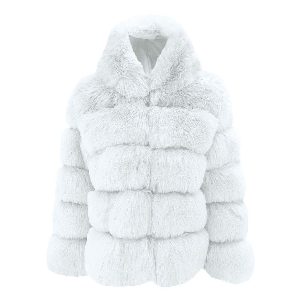 SERYU Warm Thick Outerwear Women Mink Coats Winter Hooded New Faux Fur Jacket