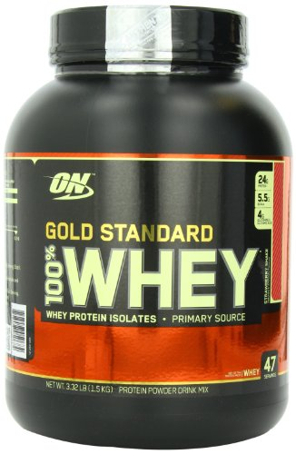 Optimum Nutrition Gold Standard 100% Whey boisson nutritive, Strawberry Shake, 3,32 livre