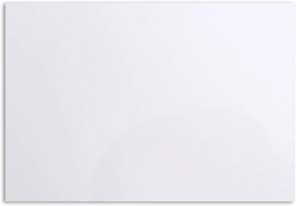 Musiclily 20x25cm Placa de Plástico Materia Prima Plancha de Autoadhesivo Pickguard Golpeador para Guitarra Acústica, Blanco