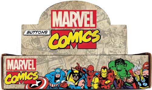 Button set Marvel Comics Countertop Display Box Contains Assorted Loose Buttons, 144-Piece by Button set