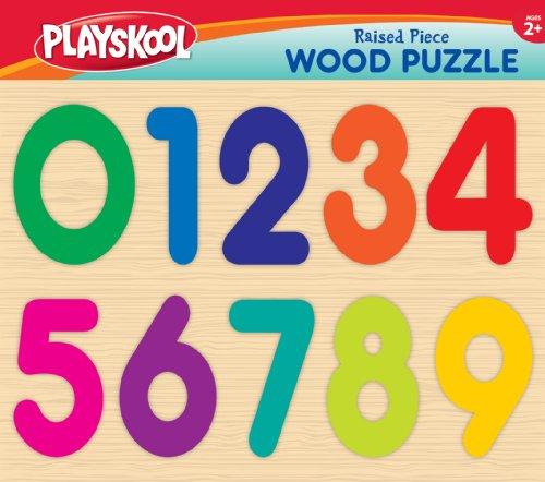 Raised Piece Wood Puzzle - Numbers