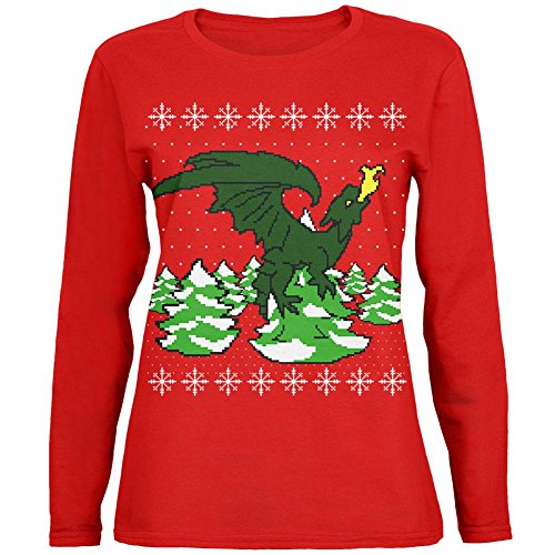 Ugly Christmas Sweater Dragon Winter