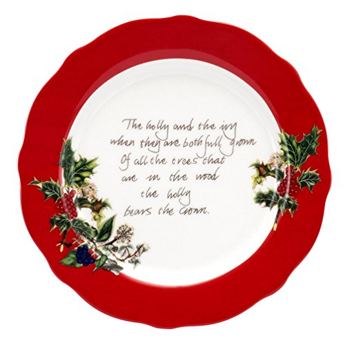 (Portmeirion Holly & Ivy Red Border Accent Plate)