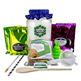 KOMBUCHA STARTER KIT DELUXE - The highest quality & most complete kombucha kit online. Includes kombucha scoby and all accessories needed to brew 2 BATCHES of this fermented drink.