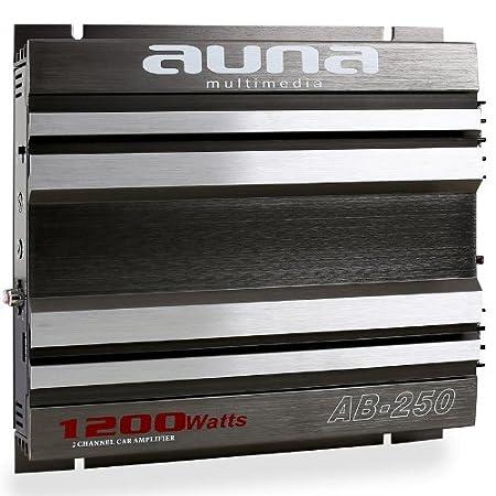 Auna AB-450 - amplificadores para coche (Gris, 50-250 Hz) 10000849