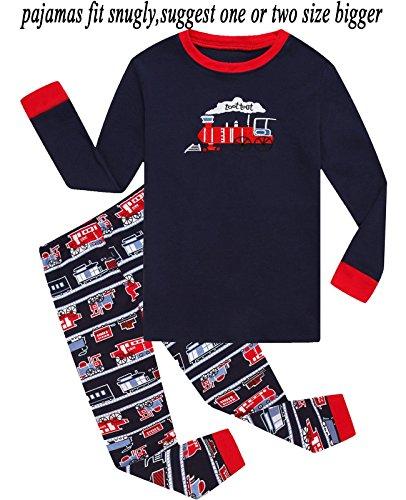 Babyroom Boys Pajamas Train Cotton Toddler Pjs Kids Sleepwear Sets Clothes Shirts4T -