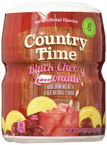 Country Time Lemonade - Black Cherry - 18 Ounces (Best Countries For Blacks)