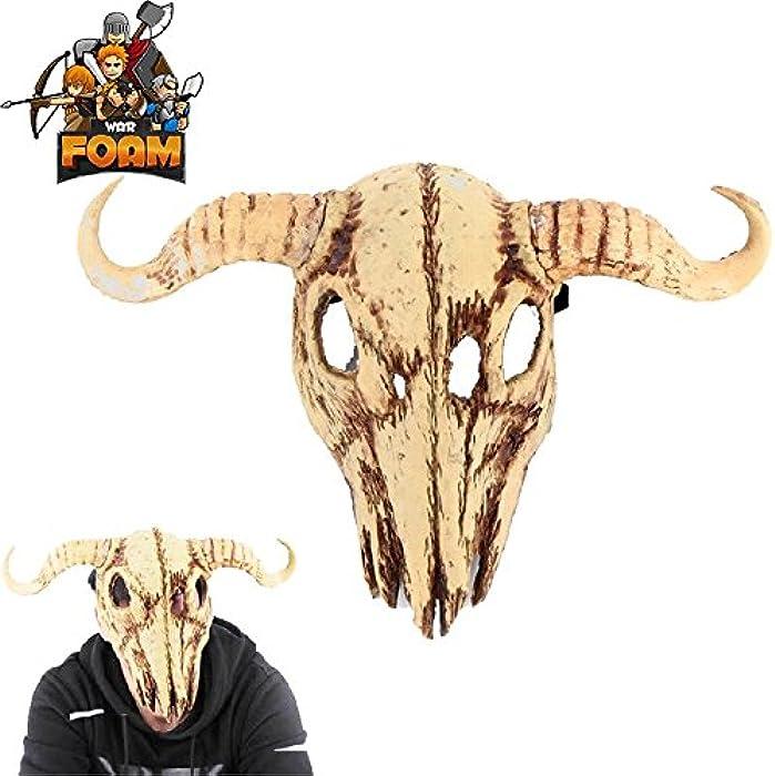 Cow Skull Bull Steer Head Mask For Cosplay Halloween Masquerade