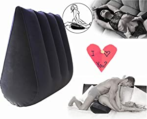 SmartRing Dark Blue, Inflatable Pillow, Multifunctional Pillow, Easy to Carry, Back Cushion, Yoga Assist