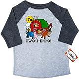 Inktastic Little Boys' TWO-I-E-I-O Toddler T-Shirt 2T 3/4 Sleeve Heather Smoke