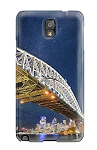 IqTGDuz256WyiQR Case Cover Sydney Bridge In Night Photos Galaxy Note 3 Protective Case