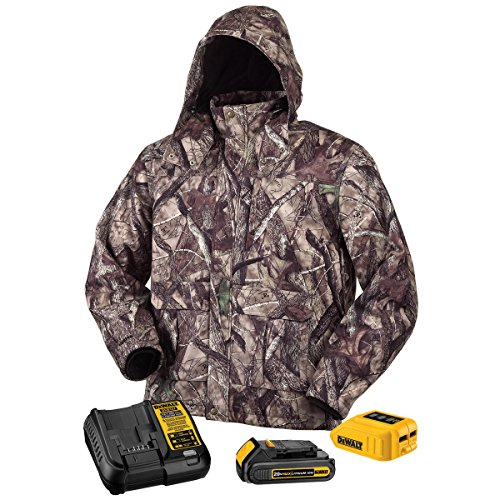 DEWALT DCHJ062C1-L 20V/12V MAX Camo Heated Jacket Kit, Large by DEWALT