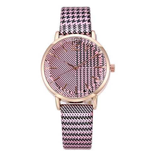 XBKPLO Quartz Watches for Women Classic Stripe Temperament Ladies Analog Wrist Watch Fine Wild Leather Strap Bracelet Jewelry Gift