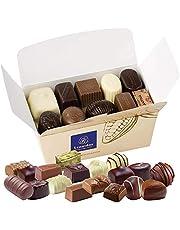 Leonidas Belgian Chocolates | NO Alcohol Assortment of Milk Chocolates, Dark Chocolates and White Chocolates in a Beautiful Gift Ballotin Box