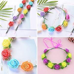 Foam Roses 144pcs Artificial Multi Color Fake Flower DIY Wedding Home Party Decoration & Wedding Car Corsage Decoration (White) 3