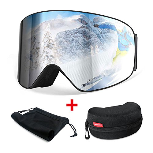 HAMSWAN Ski Snowboard Snow Goggles Anti-fog OTG UV400 Protection Detachable Double Lens for Winter Outdoor Sports - Boards Of Different Surf Types