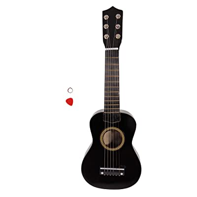 "ZAILHWK Beginner Acoustic Guitar,21"" Classical Guitar 6-String Guitar Starter Kits with Guitar Pick and Extra Strings for Children Adult,Black: Toys & Games"