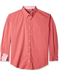 Men's Big and Tall Essential Gingham Long Sleeve Shirt