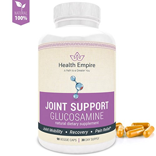 Glucosamine Chondroitin MSM Turmeric Boswellia - Joint Support & Anti-Inflammatory - Pain Relief Glucosamine Sulfate Capsules for Back, Knees, Hands - Non GMO, Gluten Free, Soy Free - Made in USA
