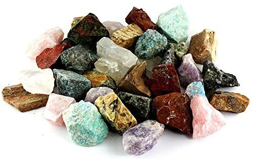 Crystal Allies Materials 1-Inch. Natural Raw Stones, for Cabbing, Cutting, Lapidary, Tumbling & Polishing and Reiki Crystal Healing, 12-Stone