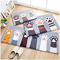 Huluwa Door Mat, Cute Cartoon Floor Mat Entry Carpet, Bathroom Absorbent Mat, Bedroom Area Rug Entrance Mat, Cat Palm, 23.6x 15.7
