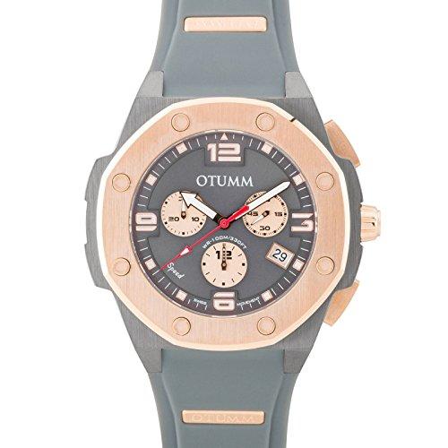 Otumm Speed Grey Rose Gold 012 45mm Unisex Speed Watch: Amazon.es: Relojes