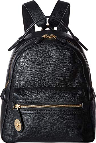 COACH Women's Campus Backpack 23 in Polished Pebble Leather Li/Black One Size
