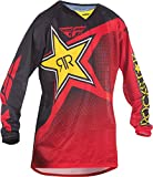 Fly Racing Unisex-Adult Kinetic Rockstar Mesh Jersey (Red/Black, Large)