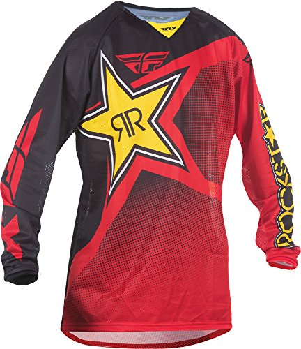 Fly Racing Unisex-Adult Kinetic Rockstar Mesh Jersey Red/Black Large