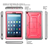 Fire HD 8 2017 Case, SUPCASE Unicorn Beetle PRO Series [Heavy Duty] Rugged Protective Cover with Built-in Screen Protector Case for Amazon Fire HD 8 Tablet (7th Generation) 2017 Release (Pink/Gray)