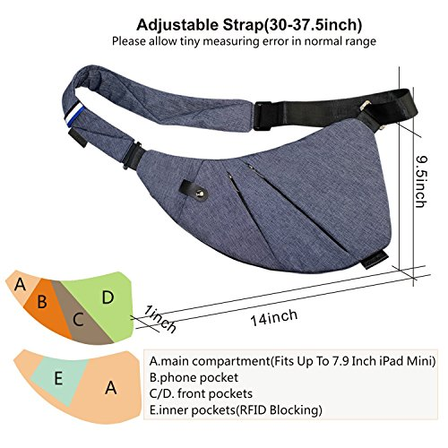 Sling Backpack Bag, Ultralight Small Crossbody Bags Wallet Purse for Women Travel Gym Hiking Mini Shoulder Messenger Back Pack Bag Daypack (Dark Blue)