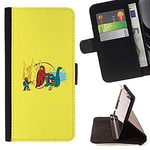 Momo Phone Case / Flip Funda de Cuero Case Cover - Bigfoot & Loch Ness - Funny - Sony Xperia M4 Aqua